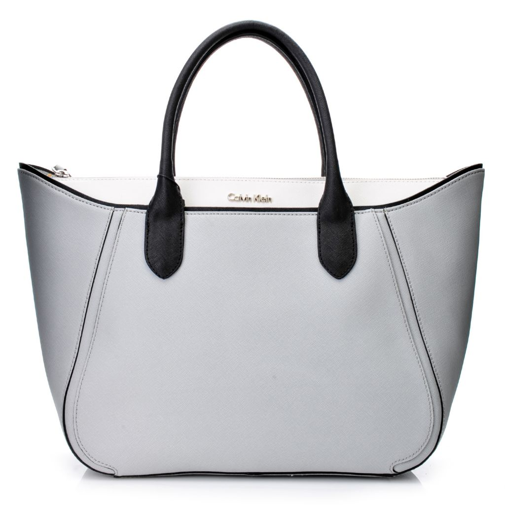 718-688 - Calvin Klein Handbags Saffiano Leather Flared Tote