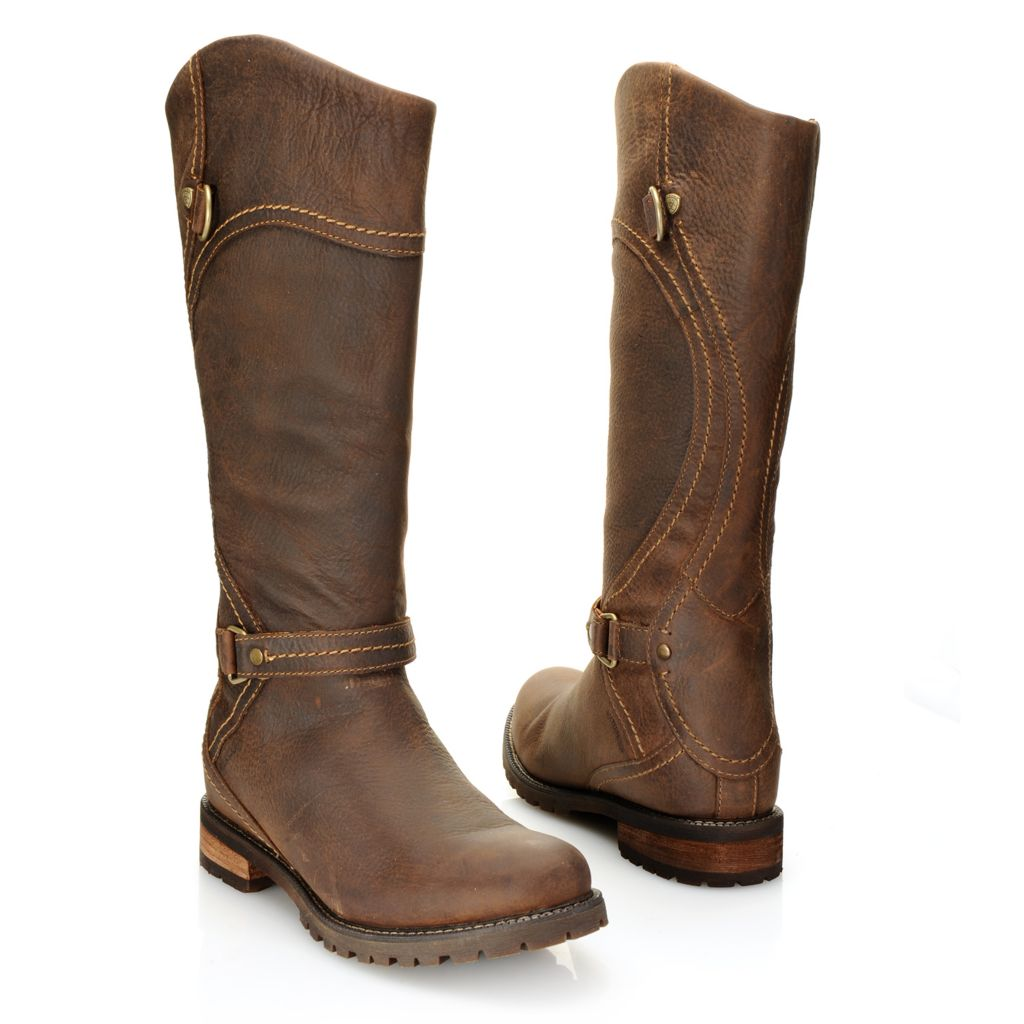718-697 - Ariat® Oiled Leather Waterproof Strap Detailed Knee-High Boots