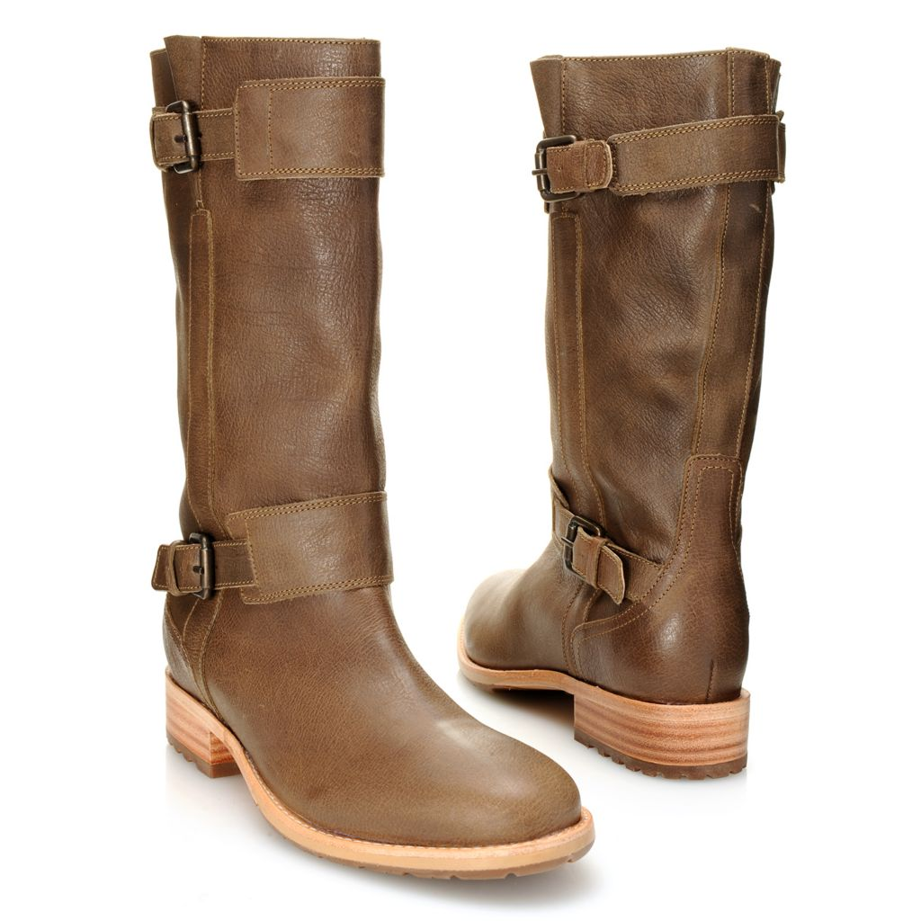 718-698 - Ariat® Leather Double Buckle Detailed Mid-Calf Boots