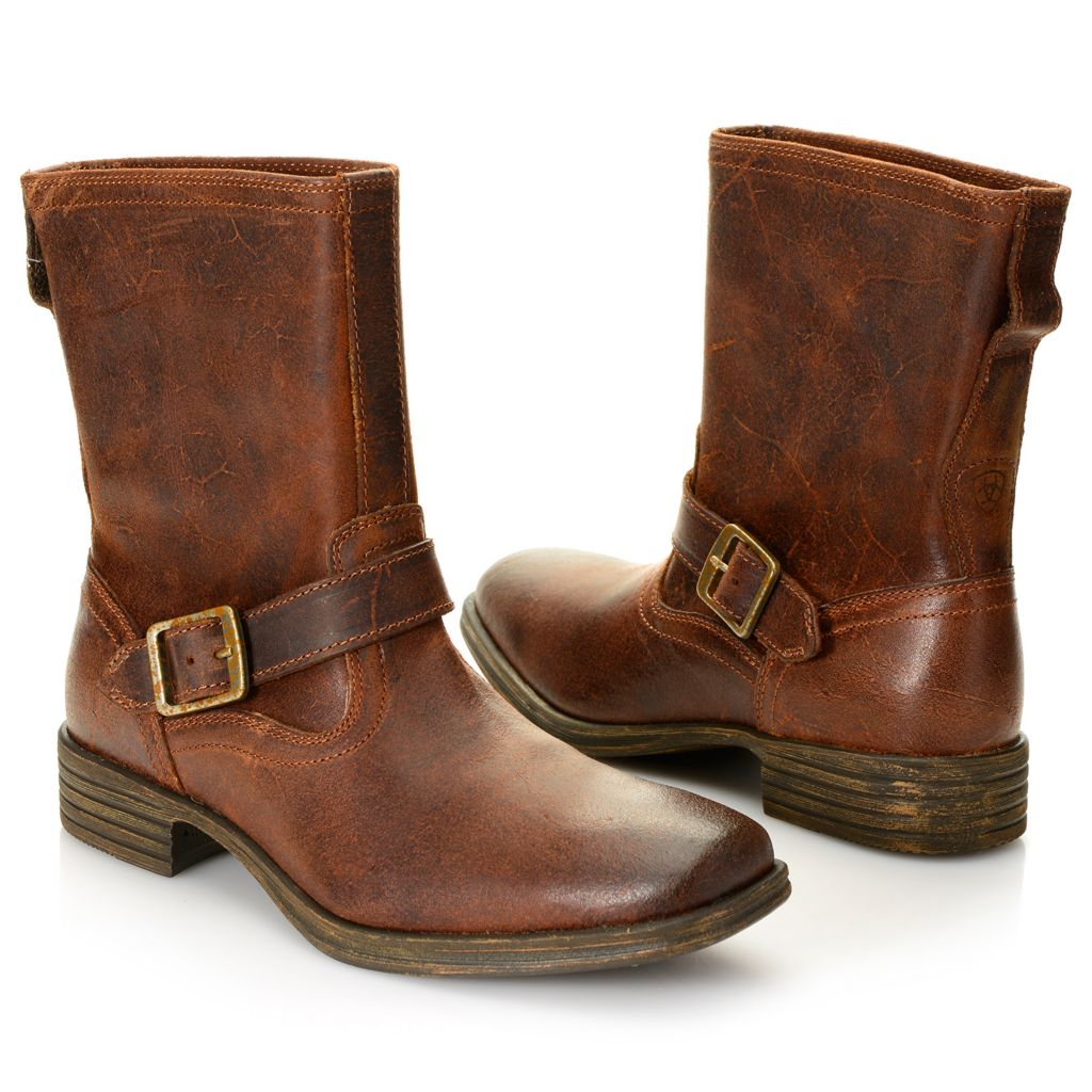 718-725 - Ariat® Men's Leather Buckle Detailed Boots