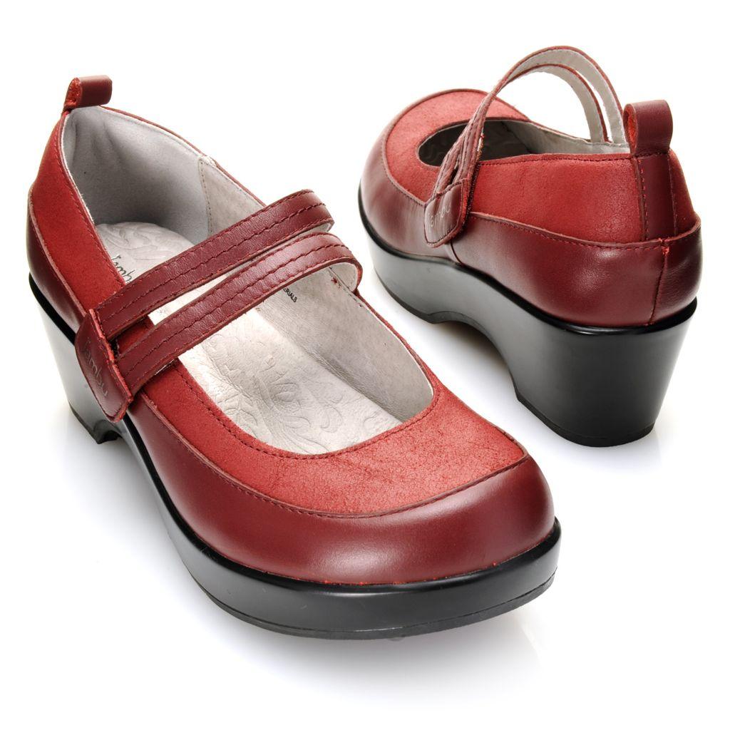 718-739 - Jambu Leather Strap Detailed Mary Janes