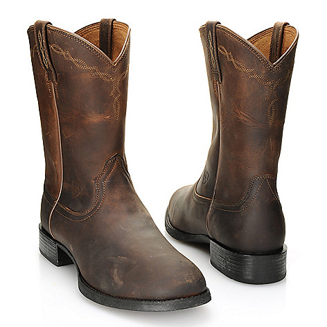 "Ariat ""Heritage Roper"" Men's Leather Pull-on Boots"