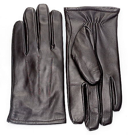 718-772 - Excelled Women's or Men's Lamb Leather Cashmere-Lined Touch Tip Gloves