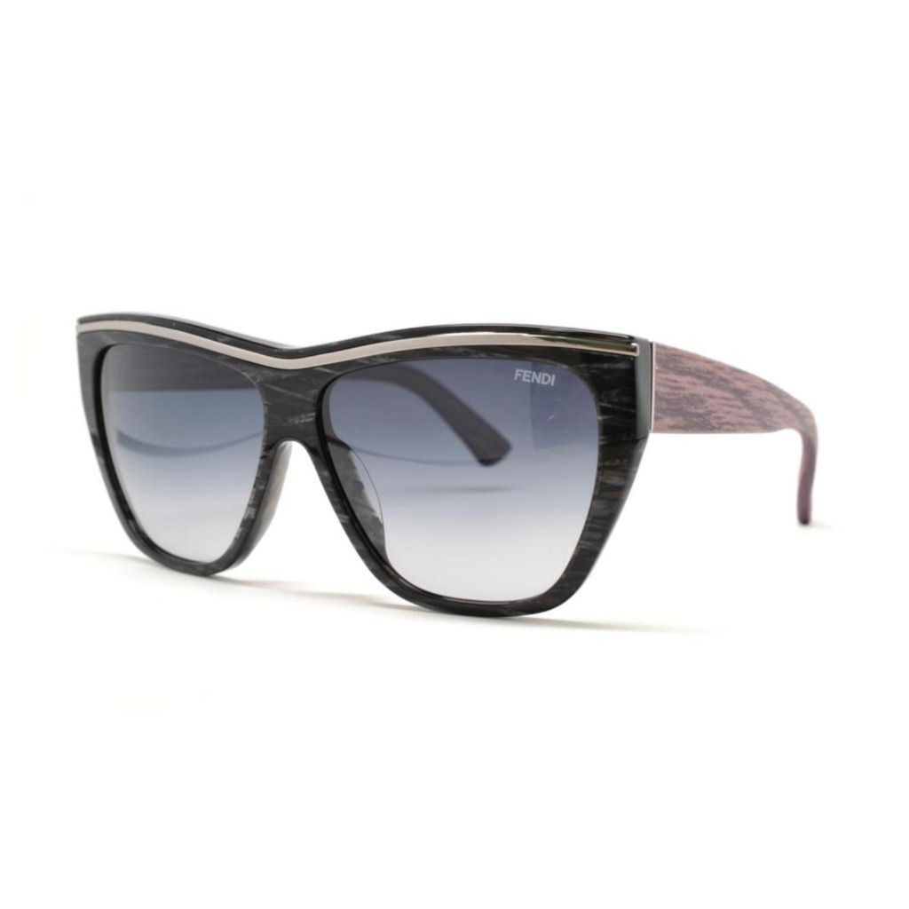 718-877 - Fendi Striped Black Unisex Designer Sunglasses