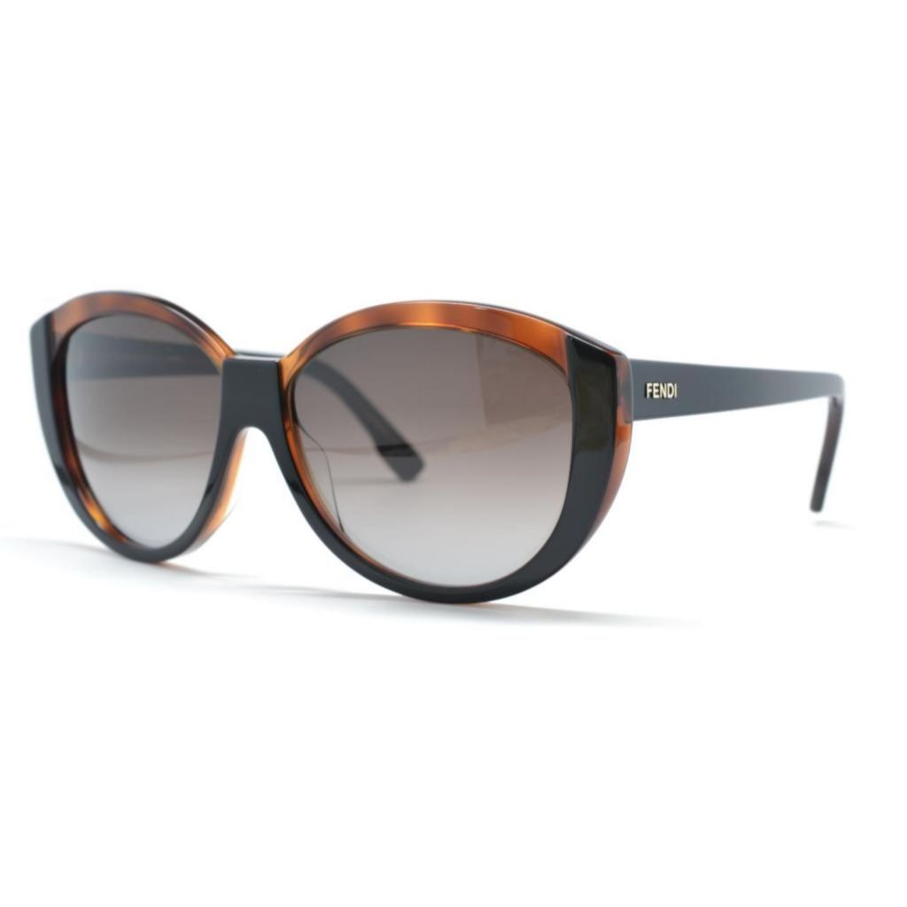 718-885 - Fendi Women's Black Havana Designer Sunglasses