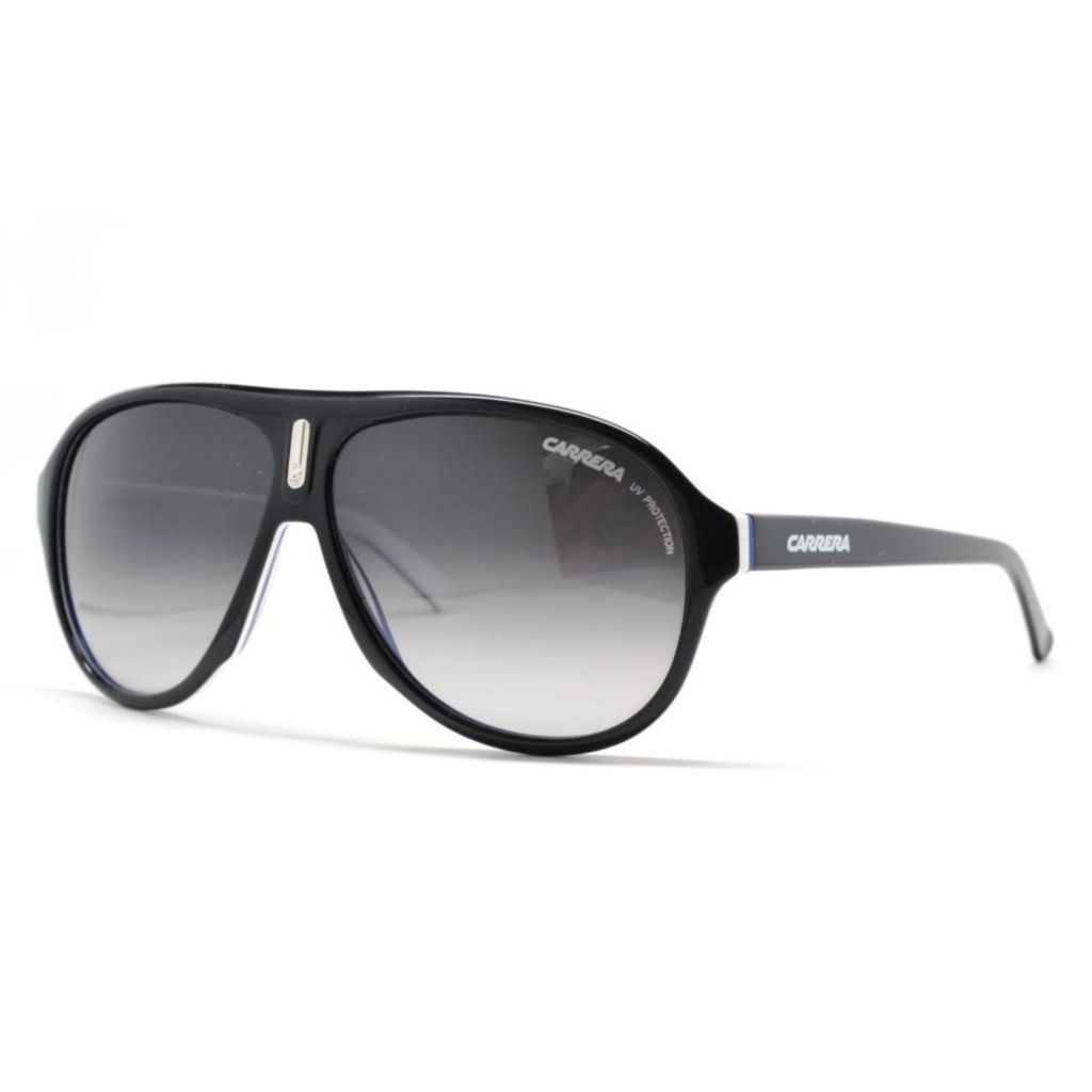 718-890 - Carrera Unisex Black White Blue Designer Sunglasses