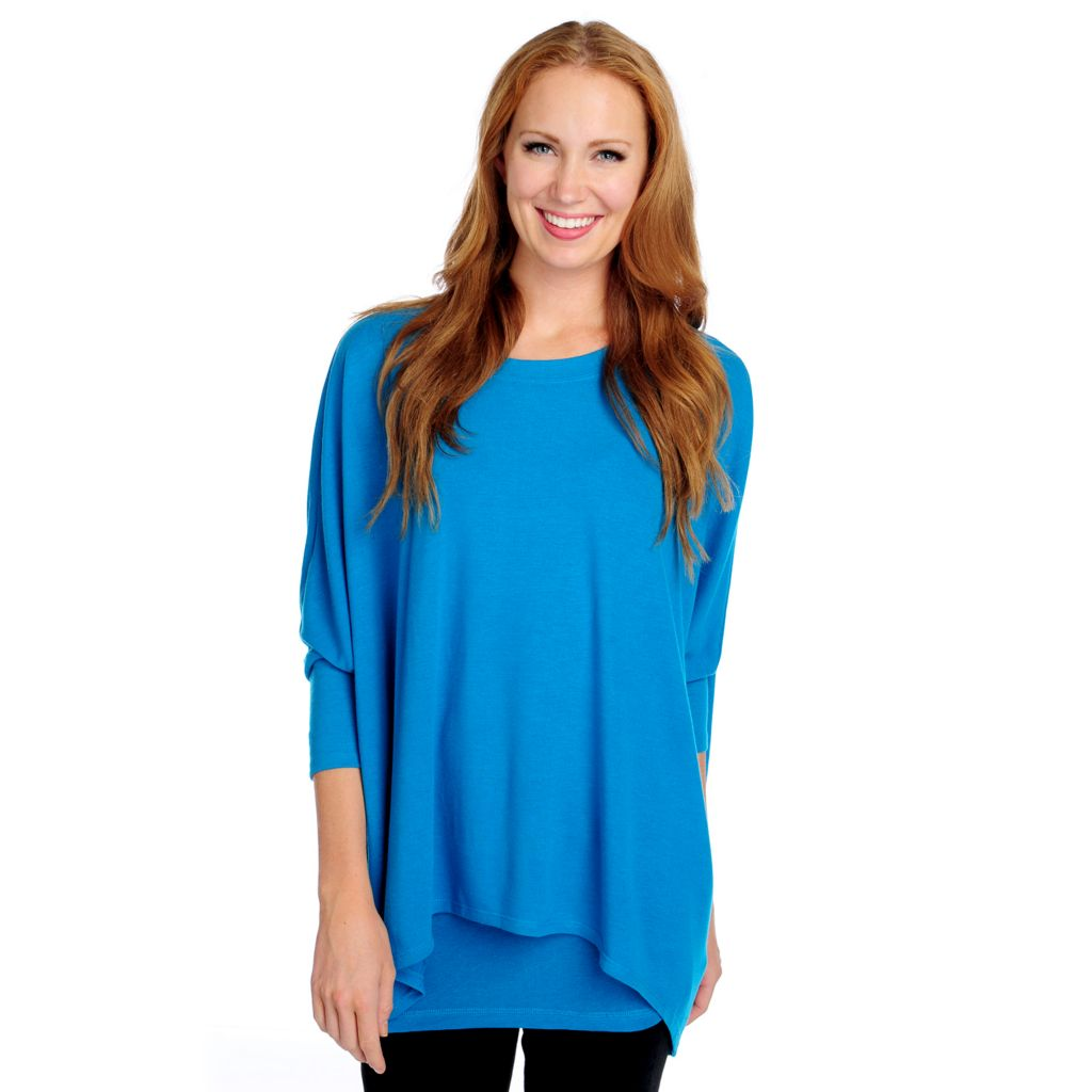 718-946 - Kate & Mallory Solid or Printed Soft Knit Dolman Sleeved Top w/ Attached Tank