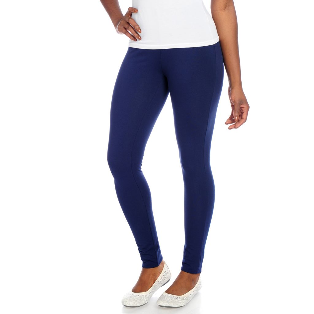 718-947 - Slimming Options™ for Kate & Mallory Cotton & Spandex Slim Leg Pull-on Leggings