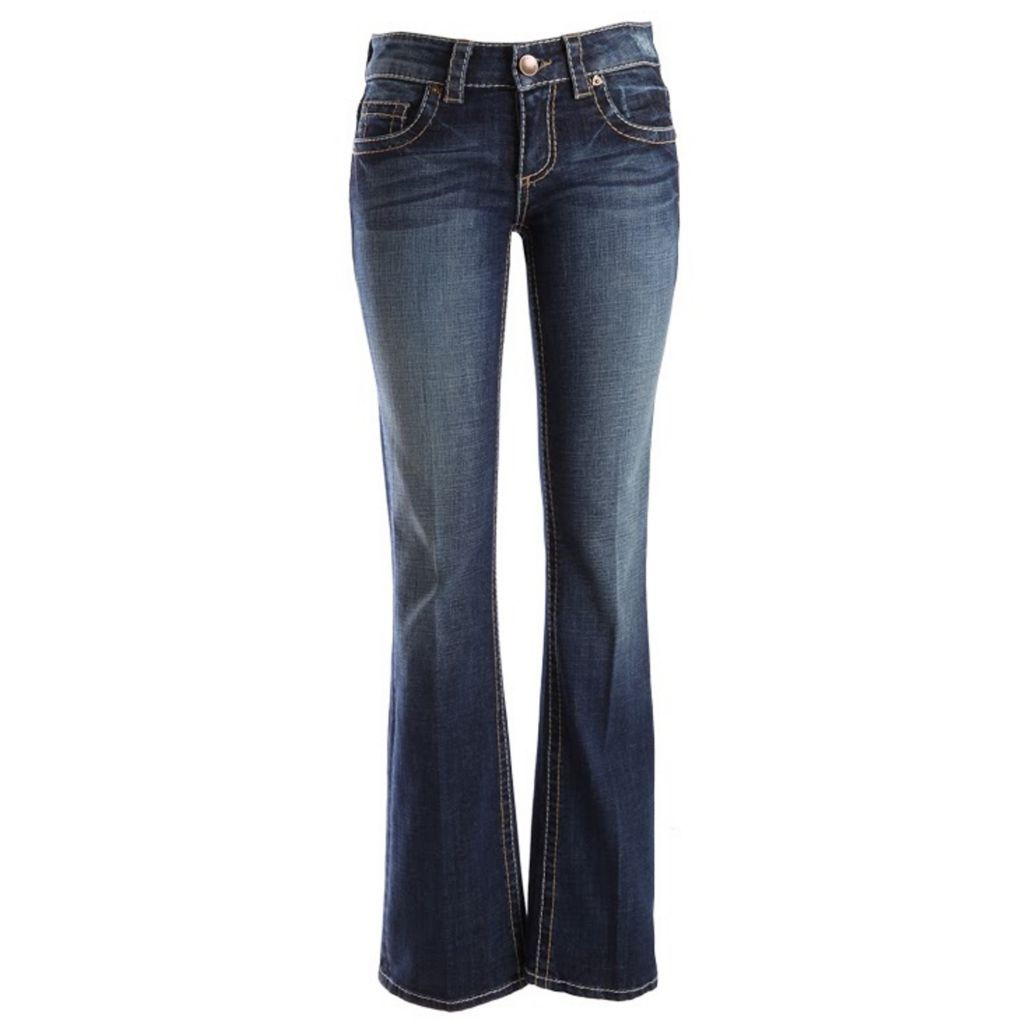 718-949 - KUT from the Kloth Natalie Boot Leg Five-Pocket Medium Blue Denim Pants