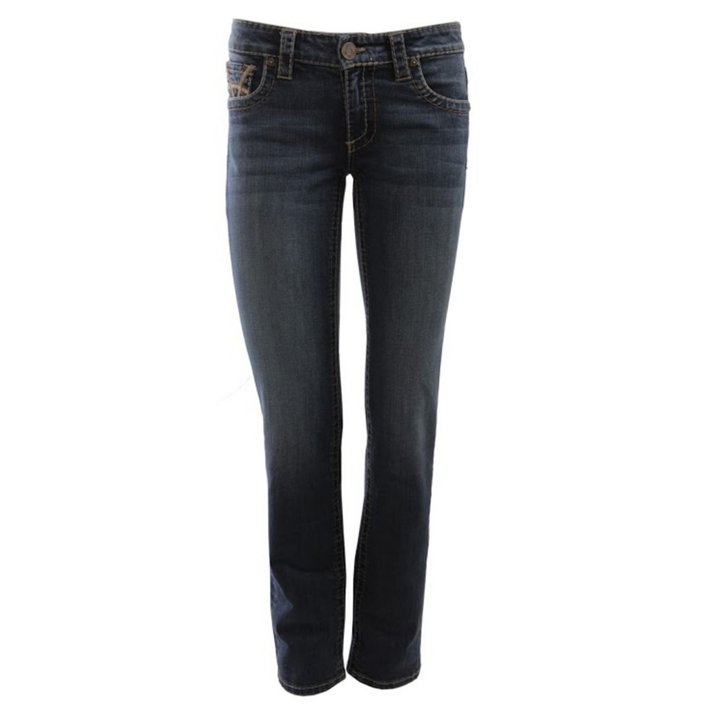 718-952 - KUT from the Kloth Stevie Straight Leg Five-Pocket Dark Blue Denim Pants