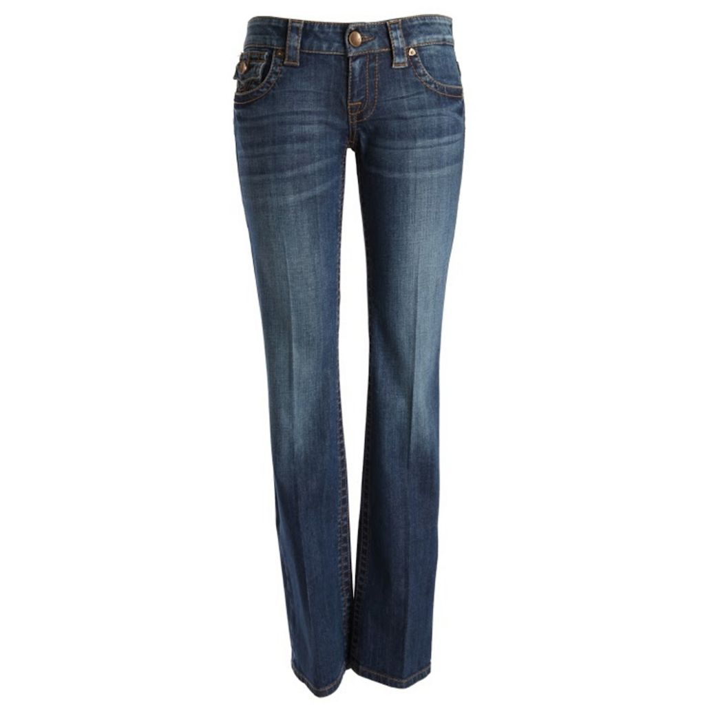 718-957 - KUT from the Kloth Kate Lowrise Boot Leg Five-Pocket Medium Blue Denim Pants