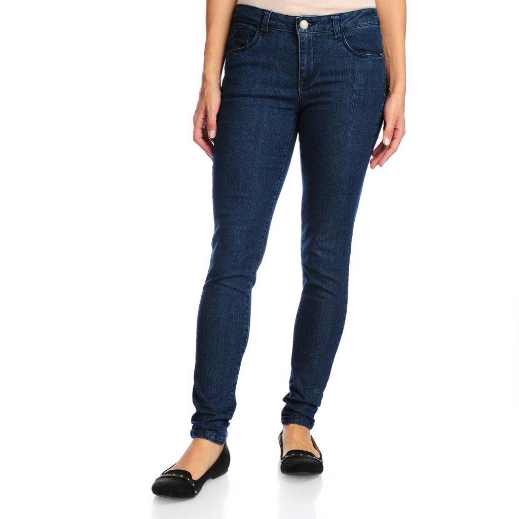 719-035 - Kate & Mallory Denim Five-Pocket Full Length Skinny Jeans