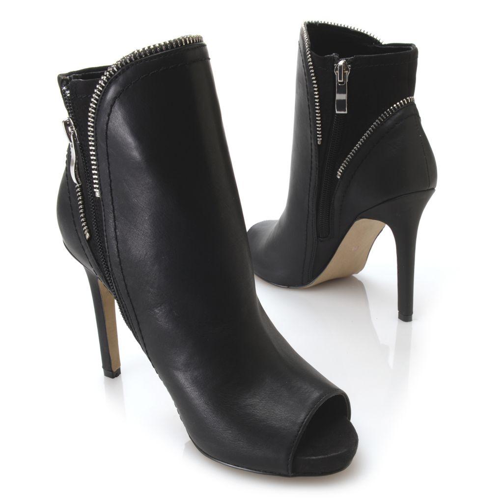 719-054 - MIA Peep Toe Side Zip Stiletto Heel Ankle Boots