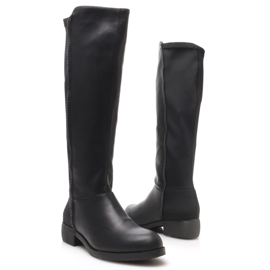 719-066 - MIA Stretch Section Side Zip Knee-High Riding Boots