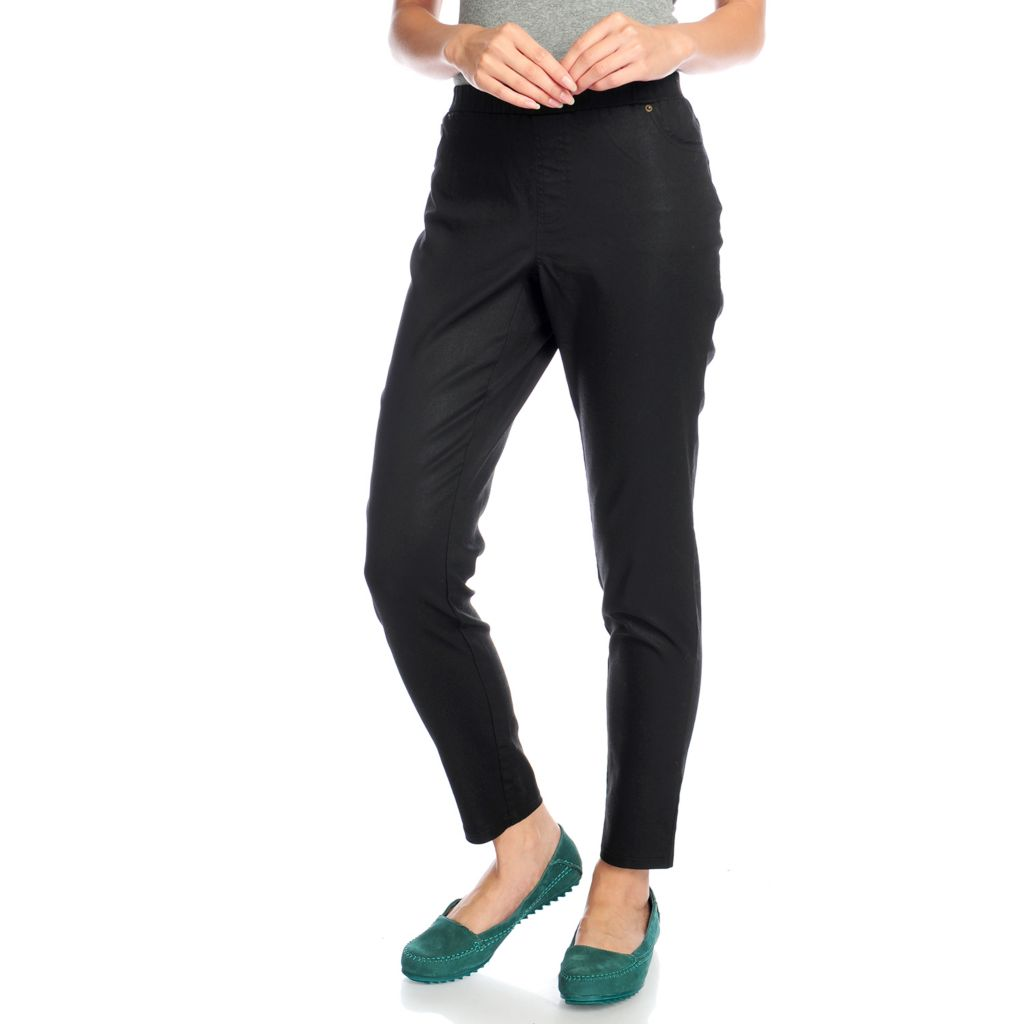 719-085 - WD.NY Stretch Twill Elastic Waist Tapered Leg Pull-on Jeans