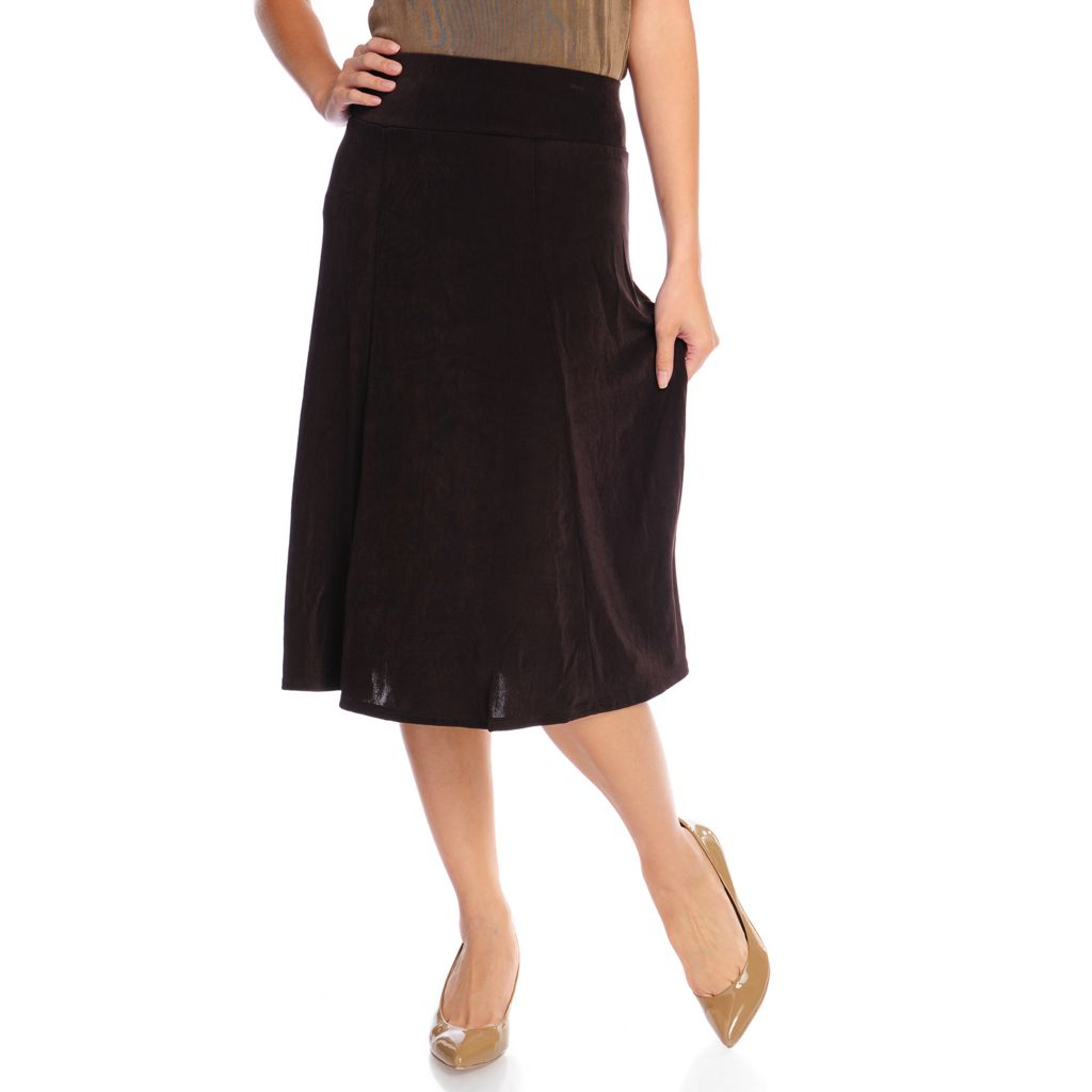 719-134 - Affinity for Knits™ Wide Waistband Midi Length Boot Skirt
