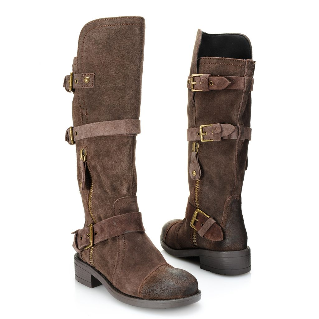 719-183 - Mojo Moxy Three-Buckle Detailed Side-Zip Knee-High Boots