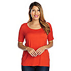 719-190 - Kate & Mallory Knit Short Sleeved Scoop Neck Basic Tee