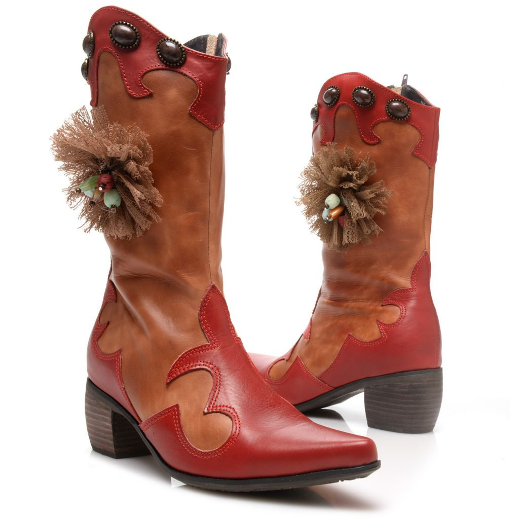 719-334 - Corkys Elite Hand-Painted Leather Western-style Mid-Calf Boots
