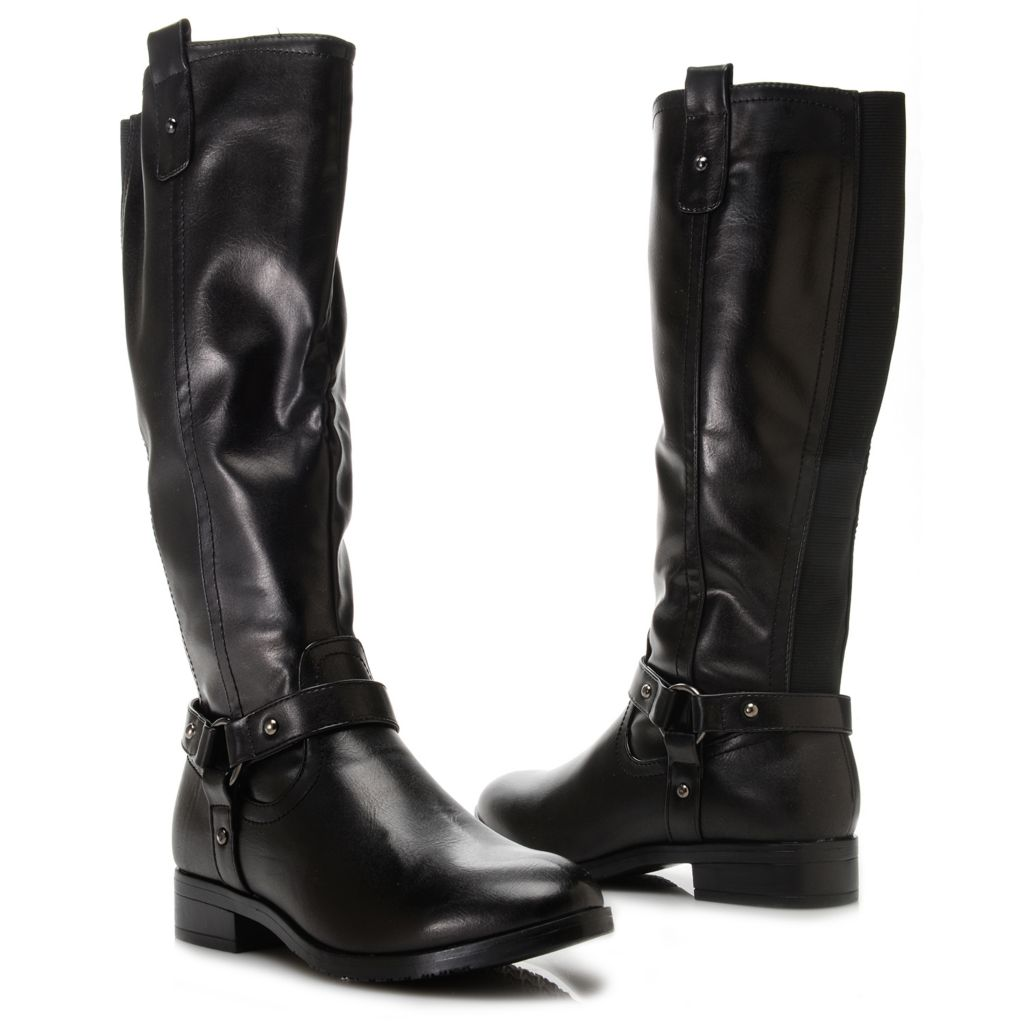 719-336 - Corkys Harness Detailed Side Zip Knee-High Riding Boots