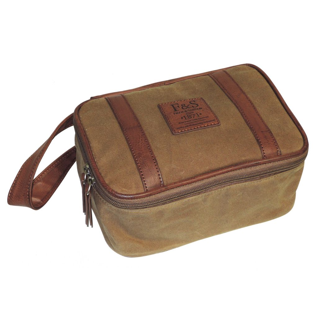719-350 - Field & Stream Canvas Zip Top Travel Bag w/ Strap
