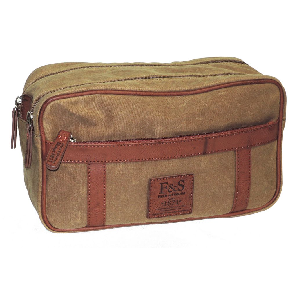 719-351 - Field & Stream Canvas Double Zip Travel Bag