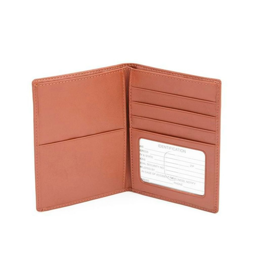 719-413 - Royce Leather Passport & Currency Wallet