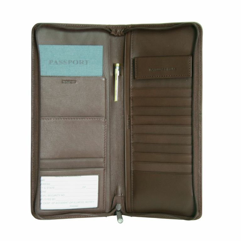 719-479 - Royce Leather Expanded Travel Document Case