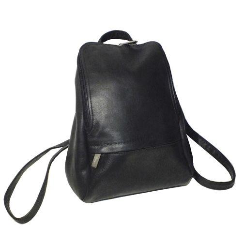 "719-510 - Royce Leather Vaquetta 10"" Adjustable Black Backpack"