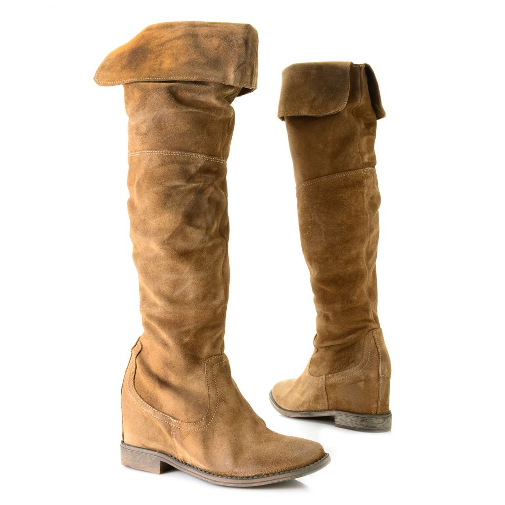 719-519 - Matisse® Suede Leather Knee-High Boots