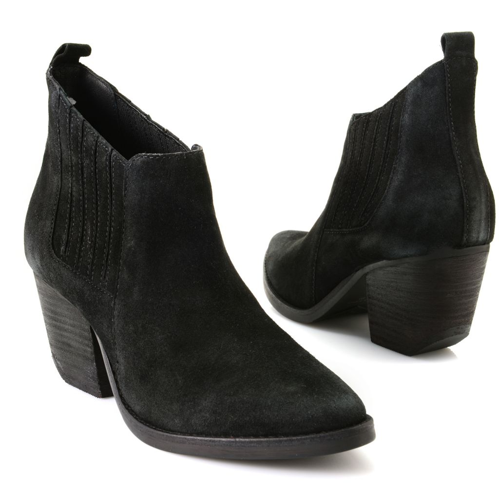 719-521 - Matisse® Suede Leather Slip-on Ankle Boots