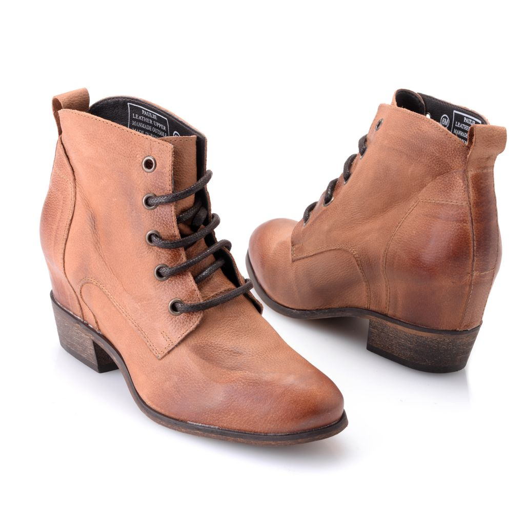 719-525 - Matisse® Leather Lace-up Ankle Boots