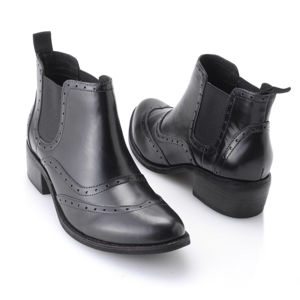 719-532 - Matisse® Smooth Leather Pull-on Ankle Boots
