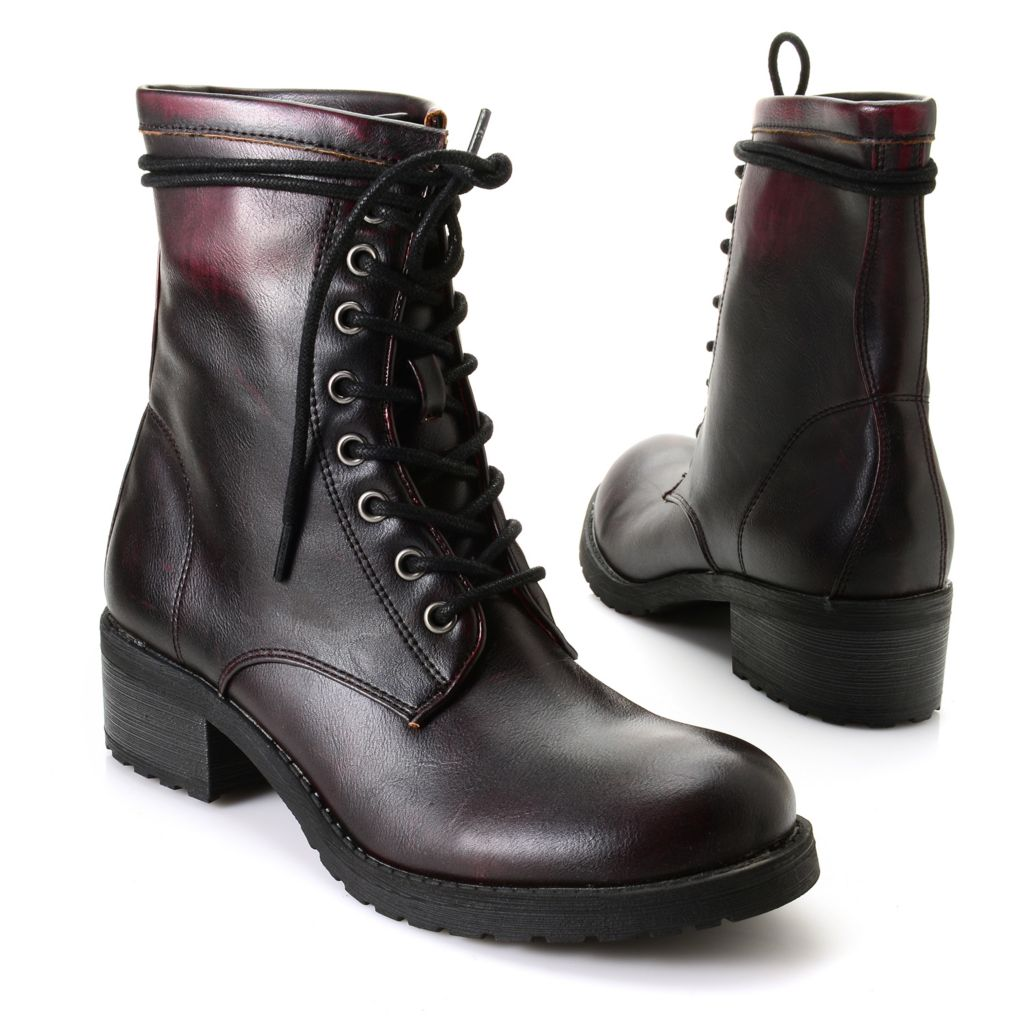719-536 - Matisse® Lace-up Military-Inspired Short Boots