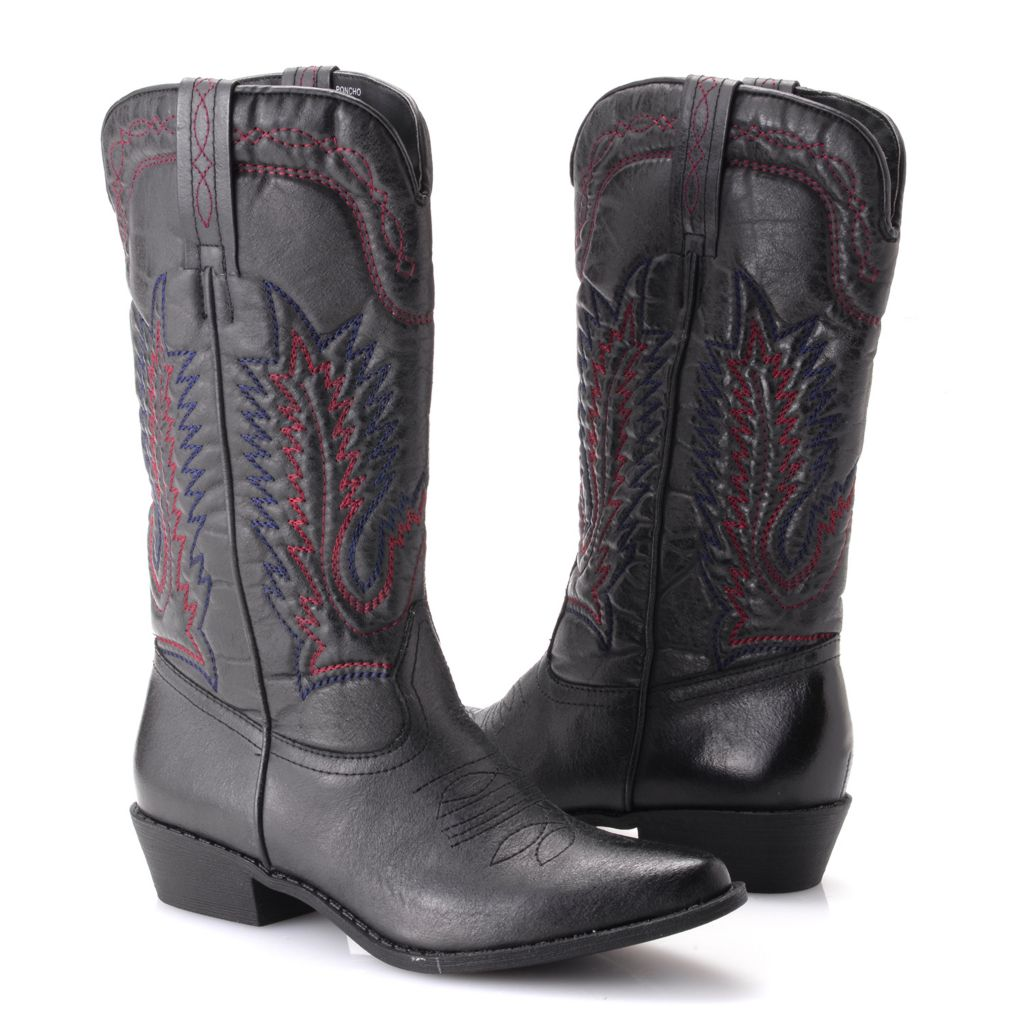 719-539 - Matisse® Western-style Embroidered Pull-on Mid-Calf Boots