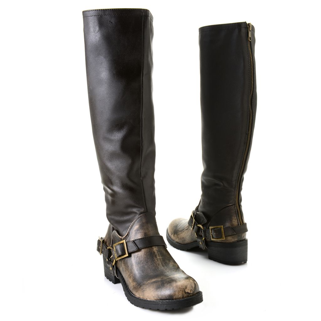719-540 - Matisse® Harness Detailed Back Zip Knee-High Riding Boots