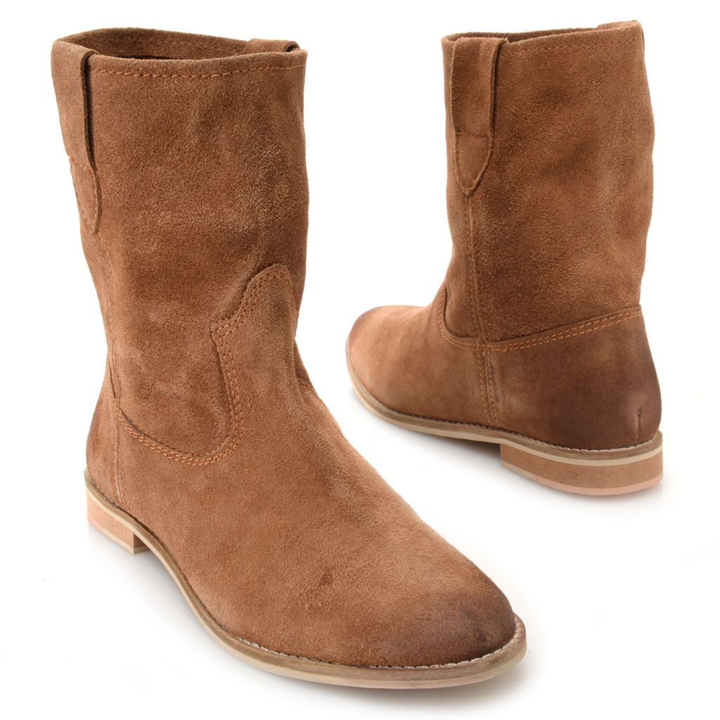719-541 - Matisse® Suede Leather Pull-on Mid-Calf Boots