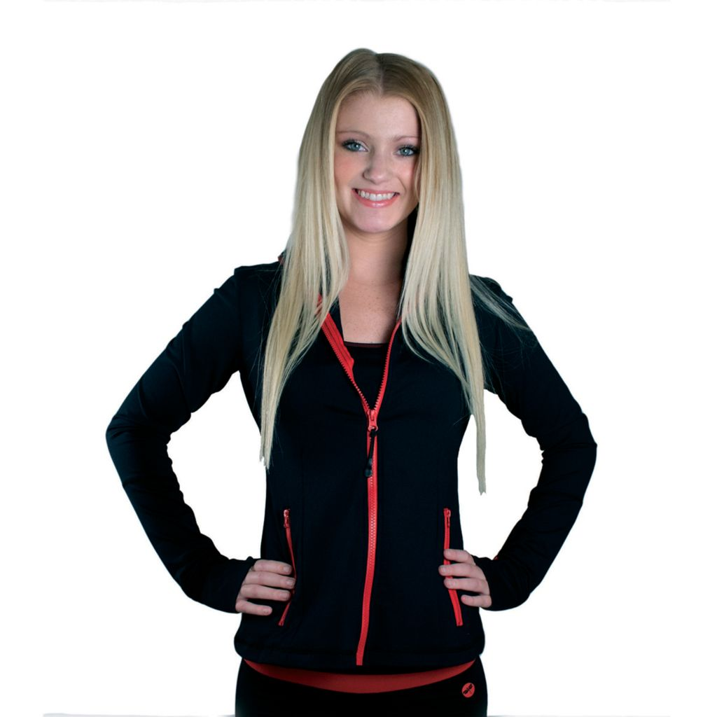 719-626 - Dragonfly Yoga Black & Red Zip-Up Jacket