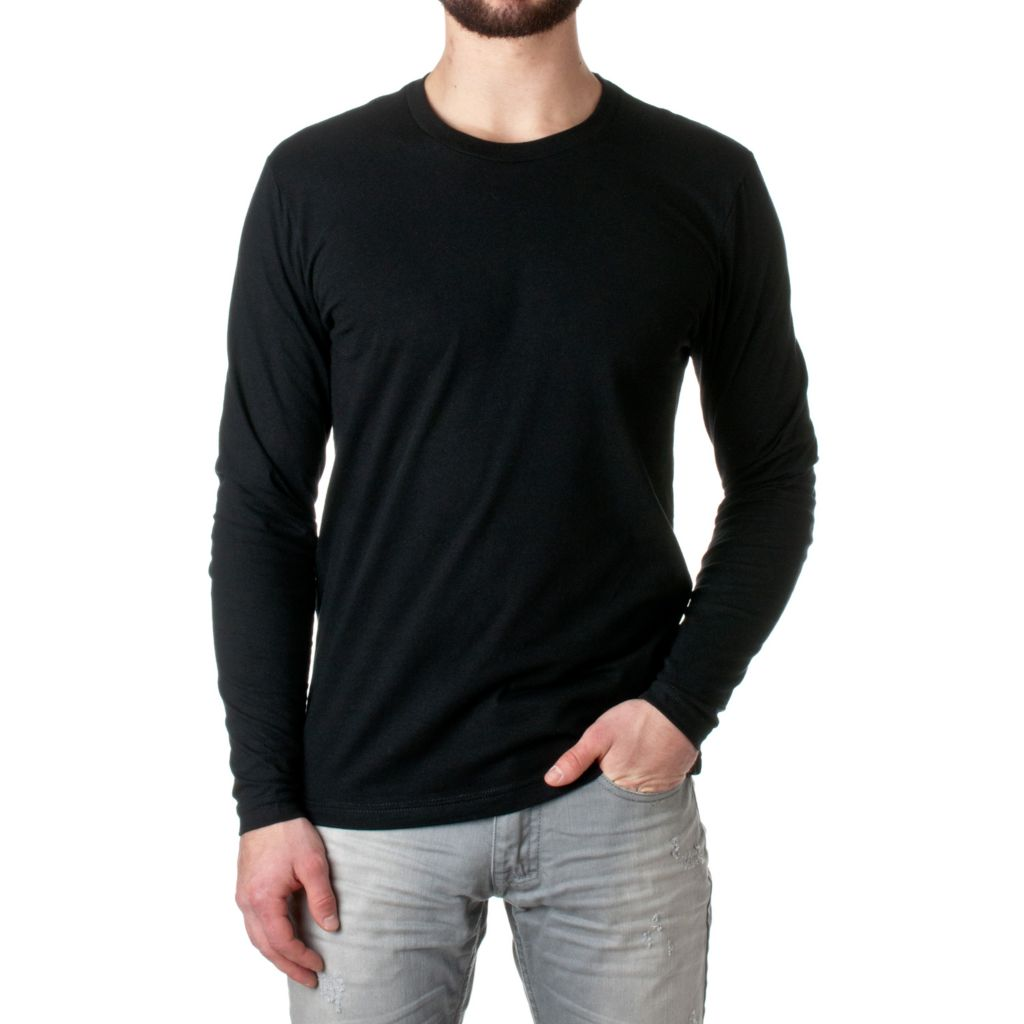 719-959 - NLA Men's 100% Cotton Knit Long Sleeved Crew Neck Premium Fitted Tee