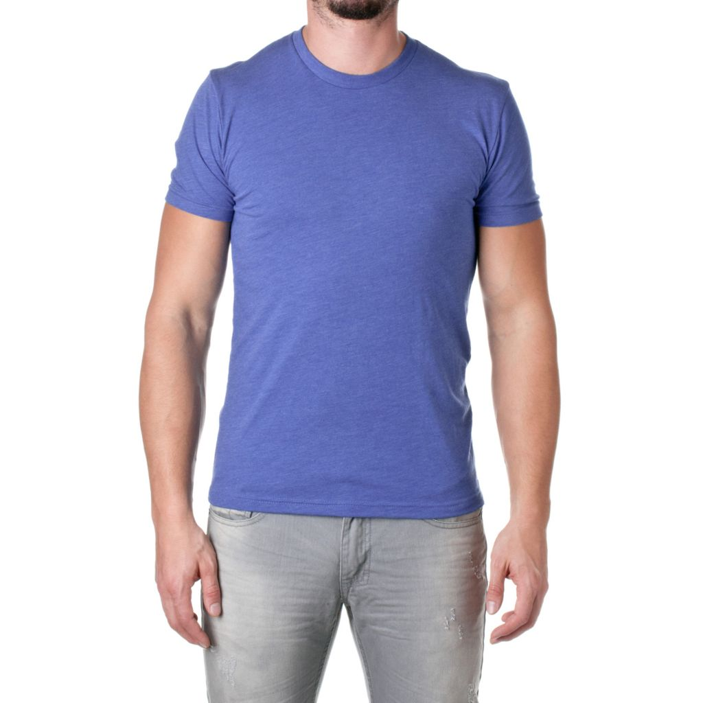 719-972 - NLA Men's Tri-Blend Knit Short Sleeved Crew Neck Premium Tee