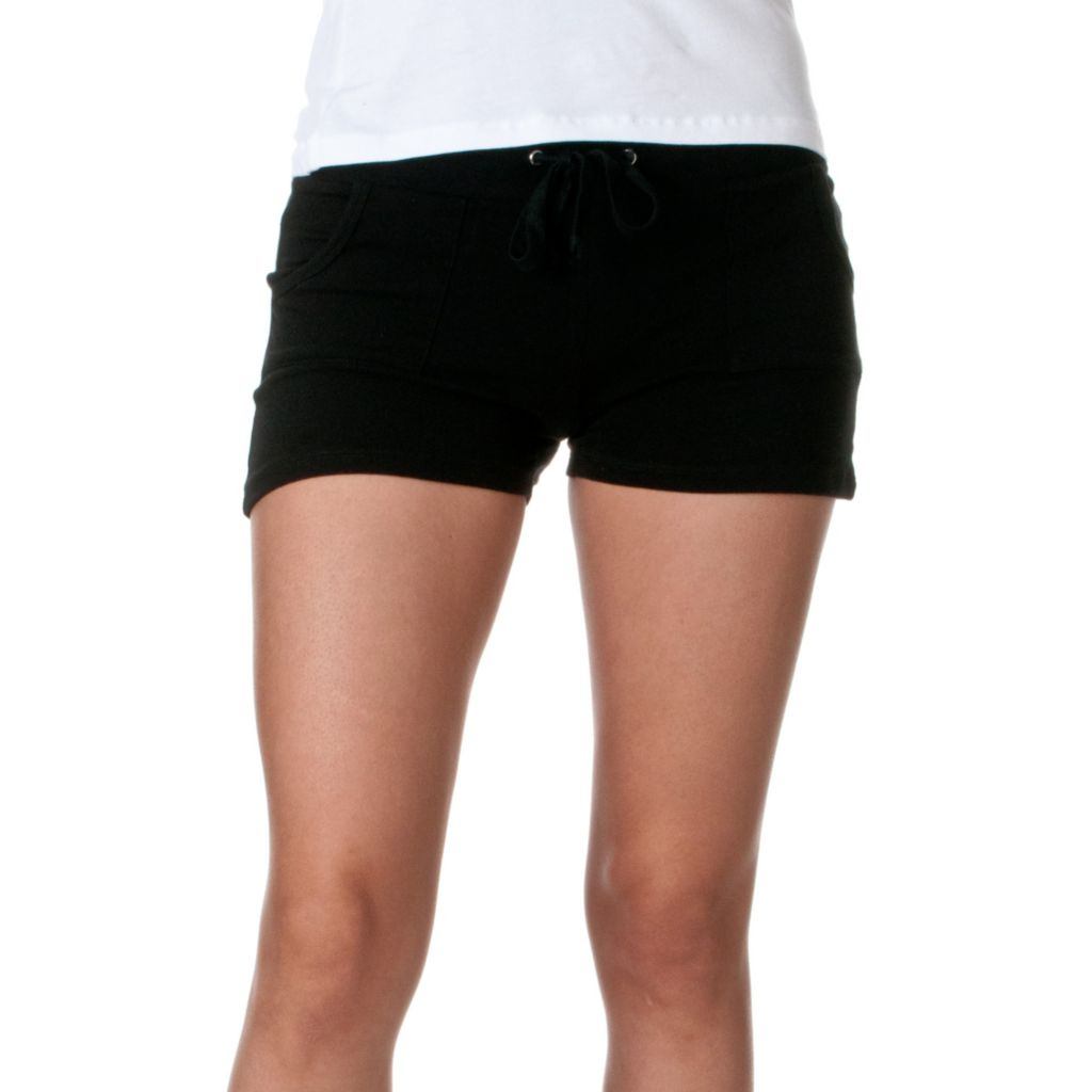 720-049 - Riverberry Cotton Spandex Knit Drawstring Activewear Shorts