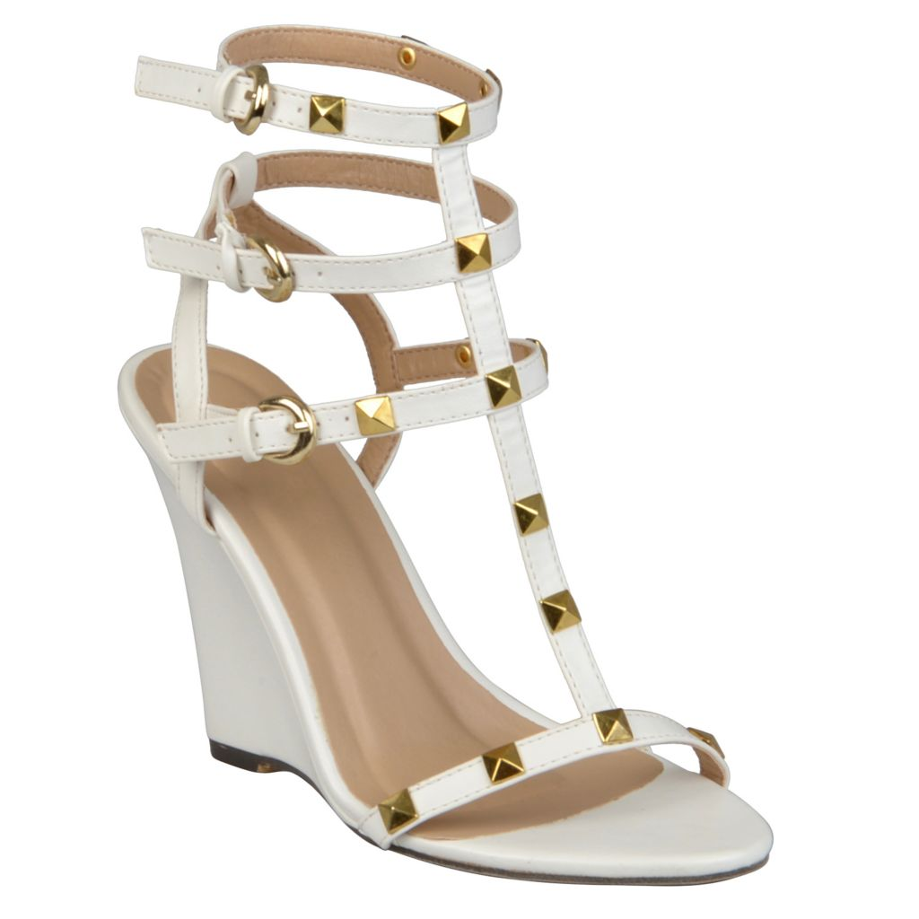 720-172 - Journee Collection Women's Studded T-strap Wedges