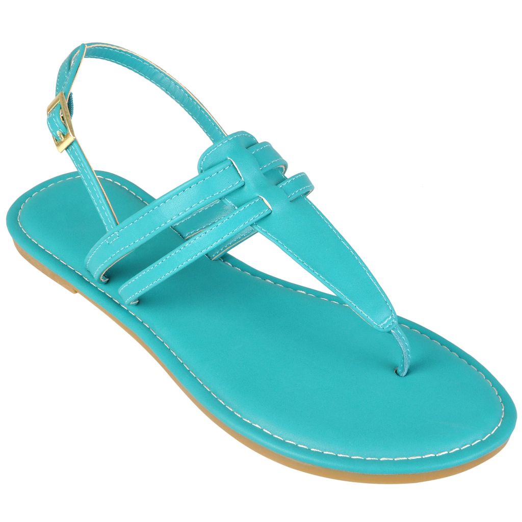 720-179 - Hailey Jeans Co. Women's Slingback T-Strap Sandals