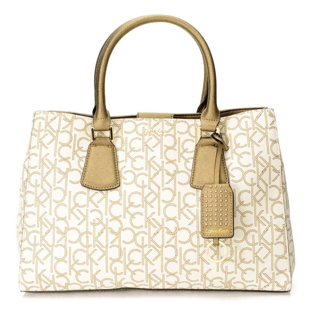 720-385 - Calvin Klein Handbags Logo Convertible Tote