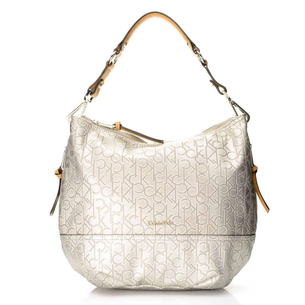 720-386 - Calvin Klein Handbags Logo Metallic Hobo
