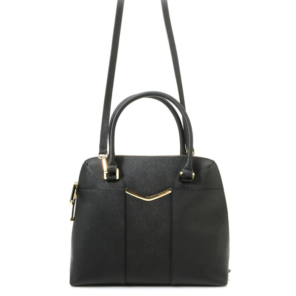 720-387 - Calvin Klein Handbags Saffiano Leather Satchel