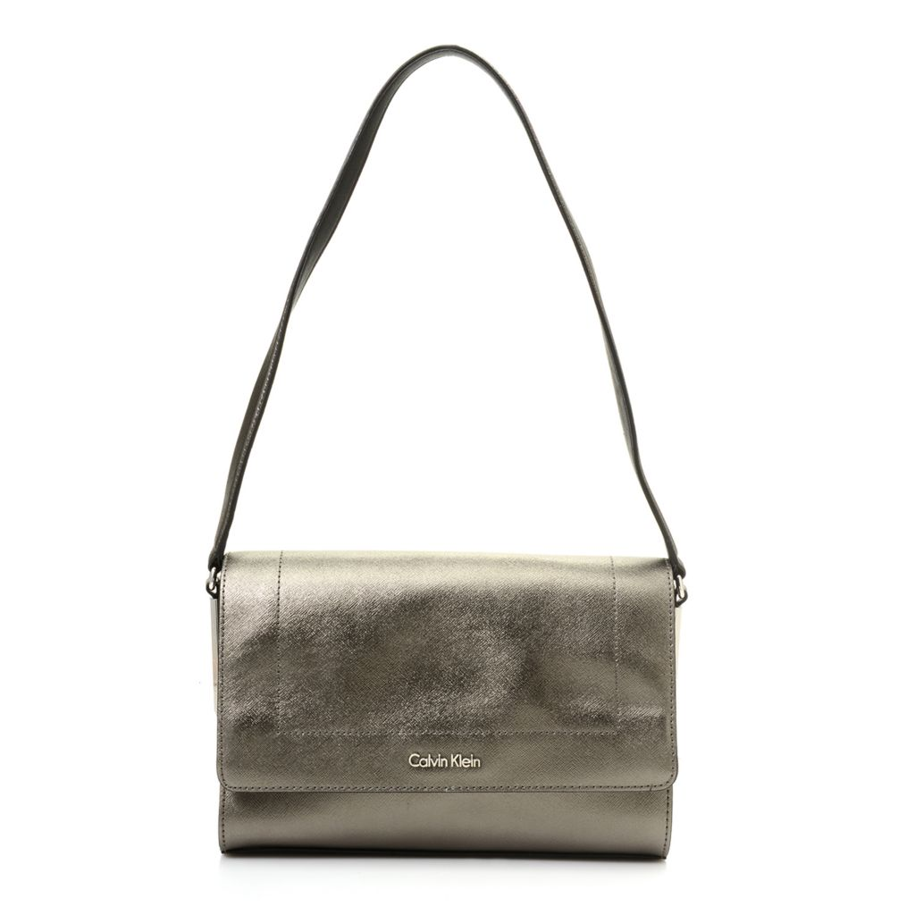 720-389 - Calvin Klein Handbags Saffiano Leather Shoulder Bag