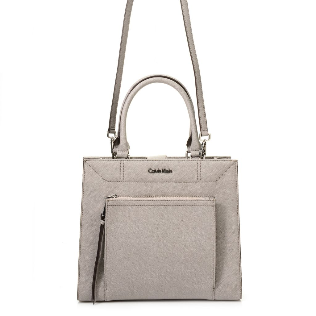 720-392 - Calvin Klein Handbags Saffiano Leather Convertible Square Tote