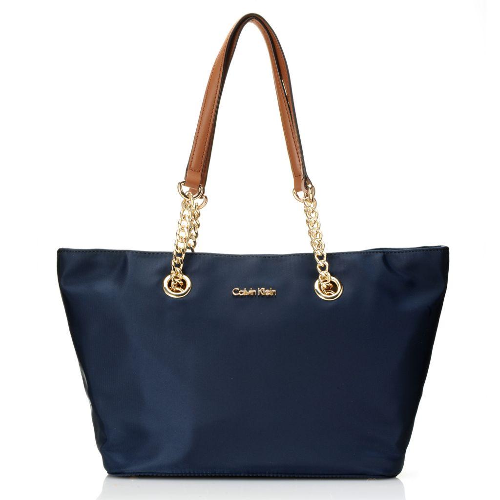 720-393 - Calvin Klein Handbags Nylon Chain Tote