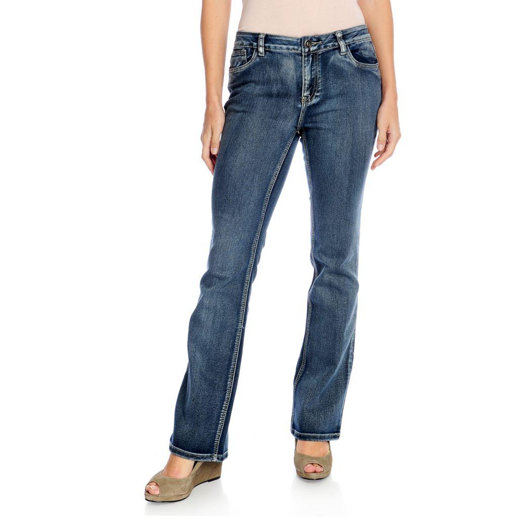 720-401 - Kate & Mallory Stretch Denim Five-Pocket Boot Cut Basic Jeans